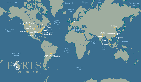 World Map of Ports Engineering Project Locations