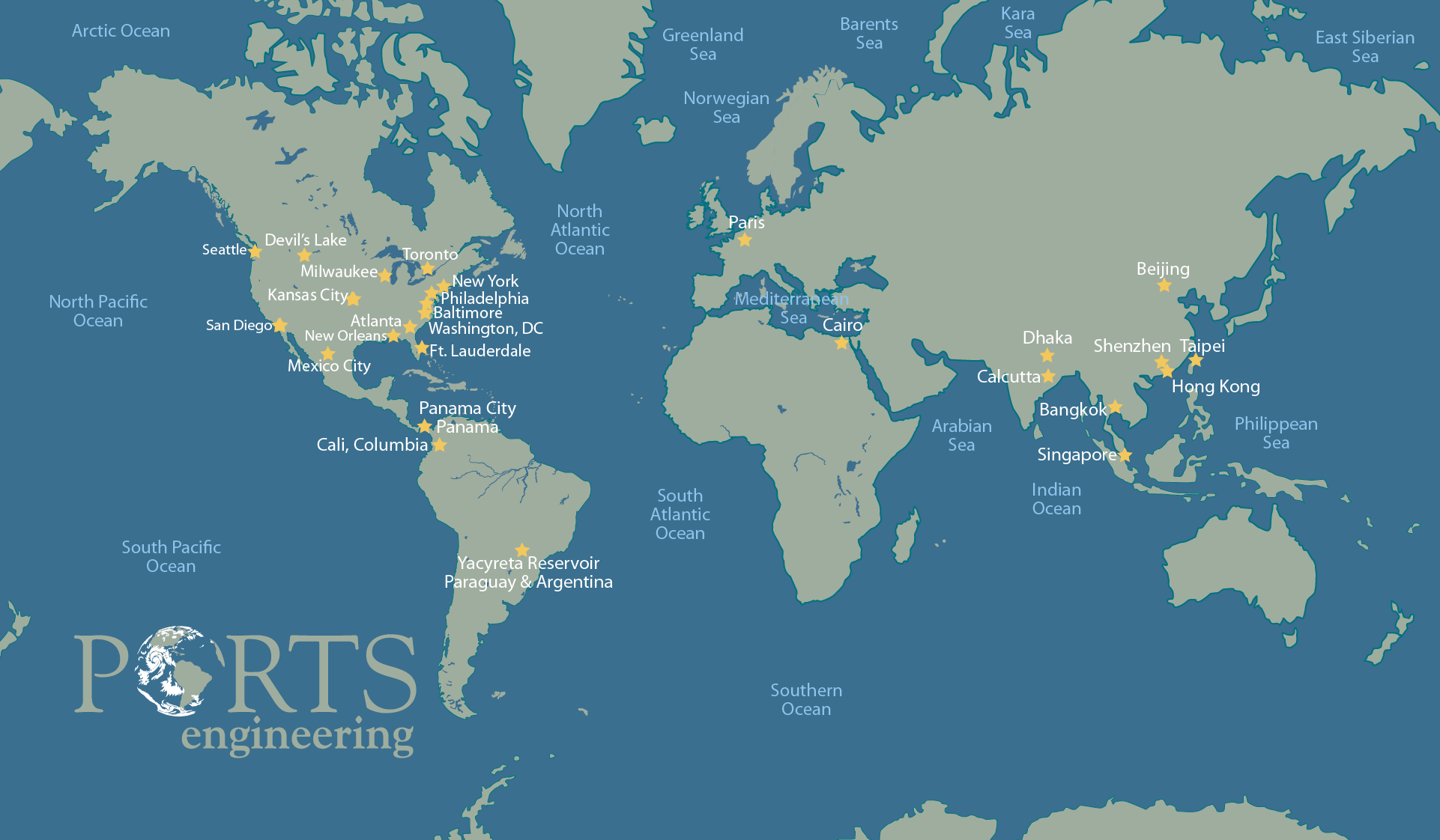 Picture of: Map Of Projects Portsengineering Com